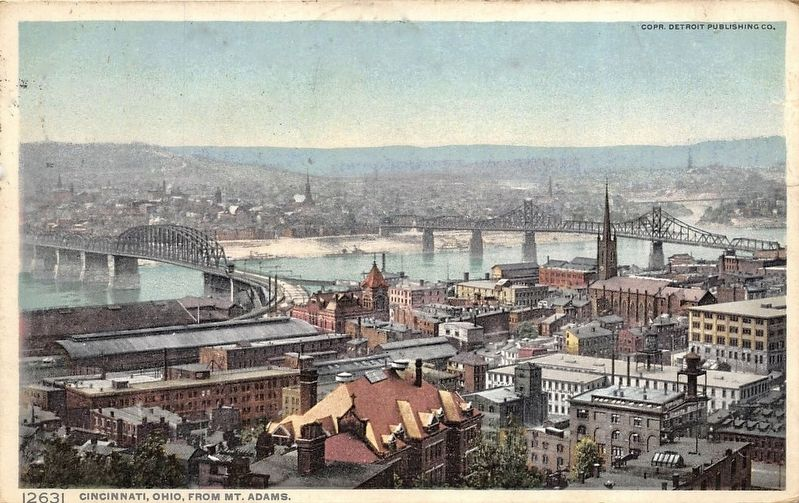 <i>Cincinnati, Ohio from Mt. Adams</i> image. Click for full size.