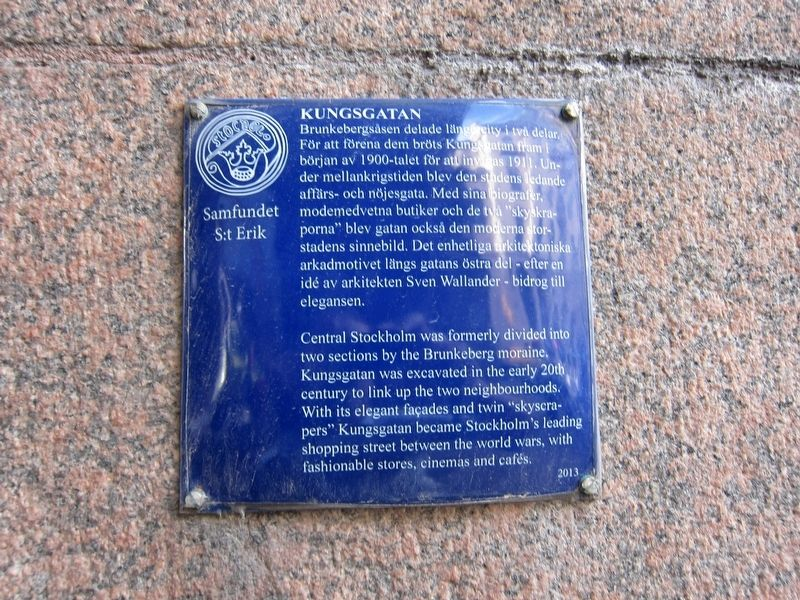 Kungsgatan Marker image. Click for full size.