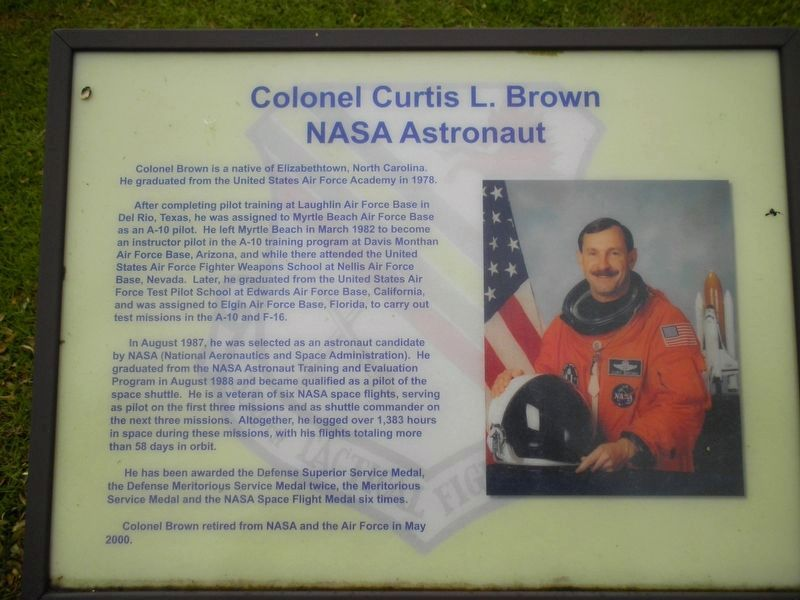 Colonel Curtis L. Brown Marker image. Click for full size.