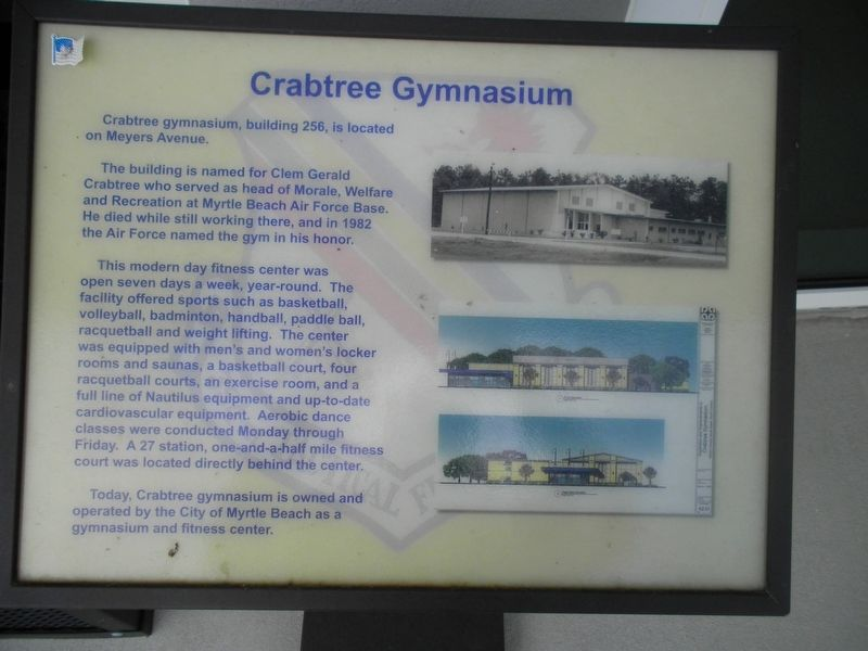 Crabtree Gymnasium Marker image. Click for full size.