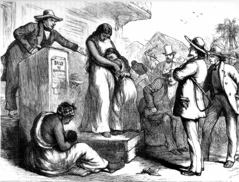 Slave Auction, U.S. South image. Click for full size.