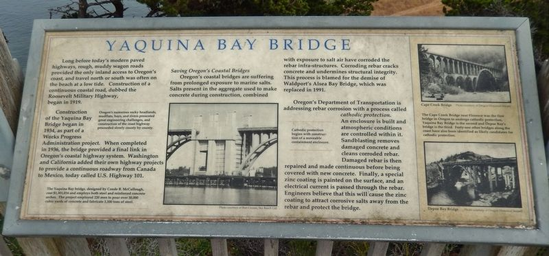 Yaquina Bay Bridge Marker image. Click for full size.