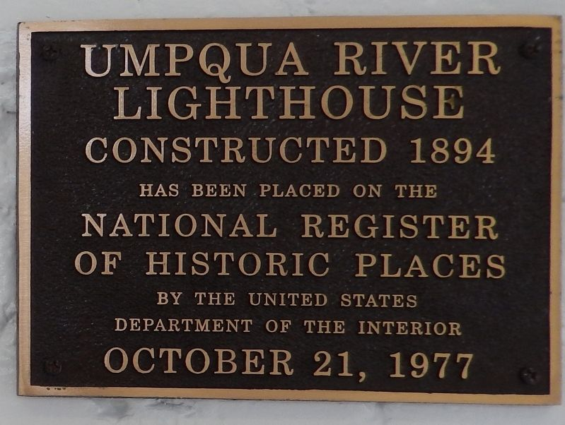 Umpqua River Lighthouse National Register of Historic Places Plaque image. Click for full size.