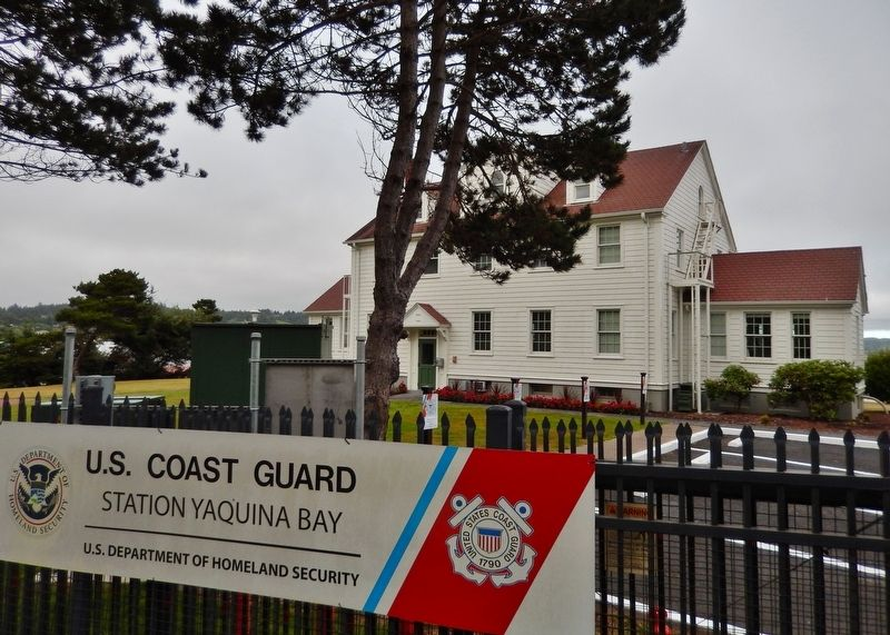 United States Coast Guard Station, Yaquina Bay, Newport, Oregon image. Click for full size.