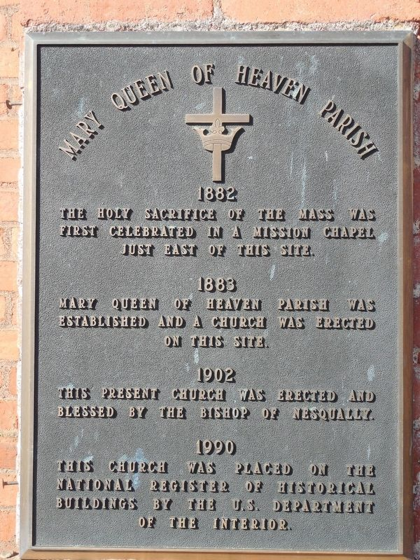 Mary Queen of Heaven Parish Marker image. Click for full size.