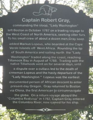 Captain Robert Gray Marker image. Click for full size.