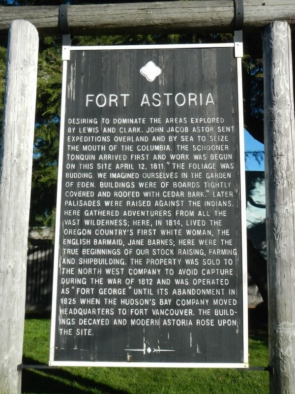 Fort Astoria Marker image. Click for full size.