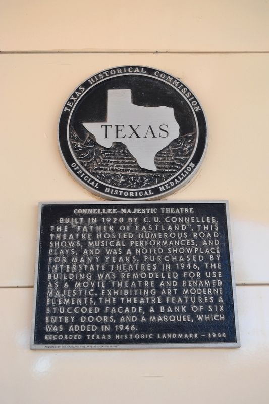 Connellee - Majestic Theatre Marker image. Click for full size.