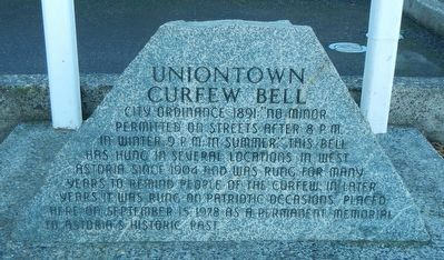 Uniontown Curfew Bell Marker image. Click for full size.