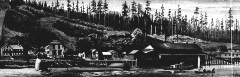 West Shore Mills circa 1883 image. Click for full size.