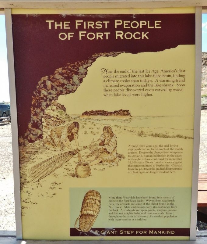 The First People of Fort Rock Marker image. Click for full size.