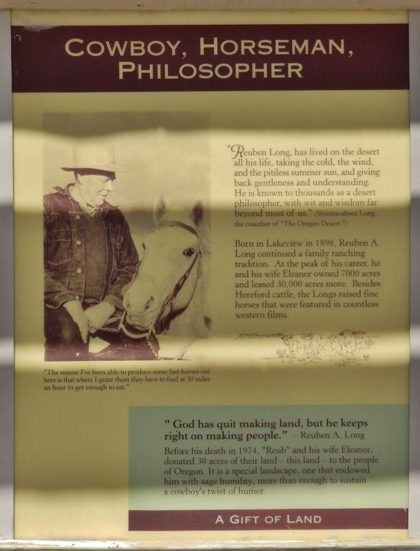 Cowboy, Horseman, Philosopher Marker image. Click for full size.