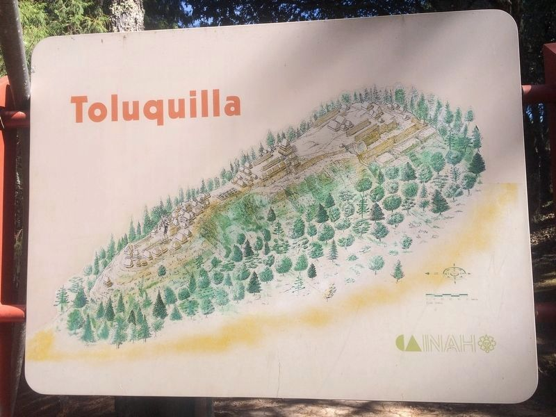 A nearby map of the Toluquilla Archaeological Site image. Click for full size.