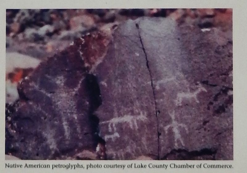 Marker detail: Petroglyphs image. Click for full size.