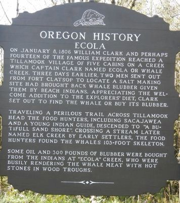 Ecola Marker image. Click for full size.