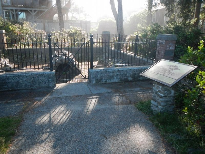 Site of the Lewis and Clark Salt Cairn plaque image. Click for full size.
