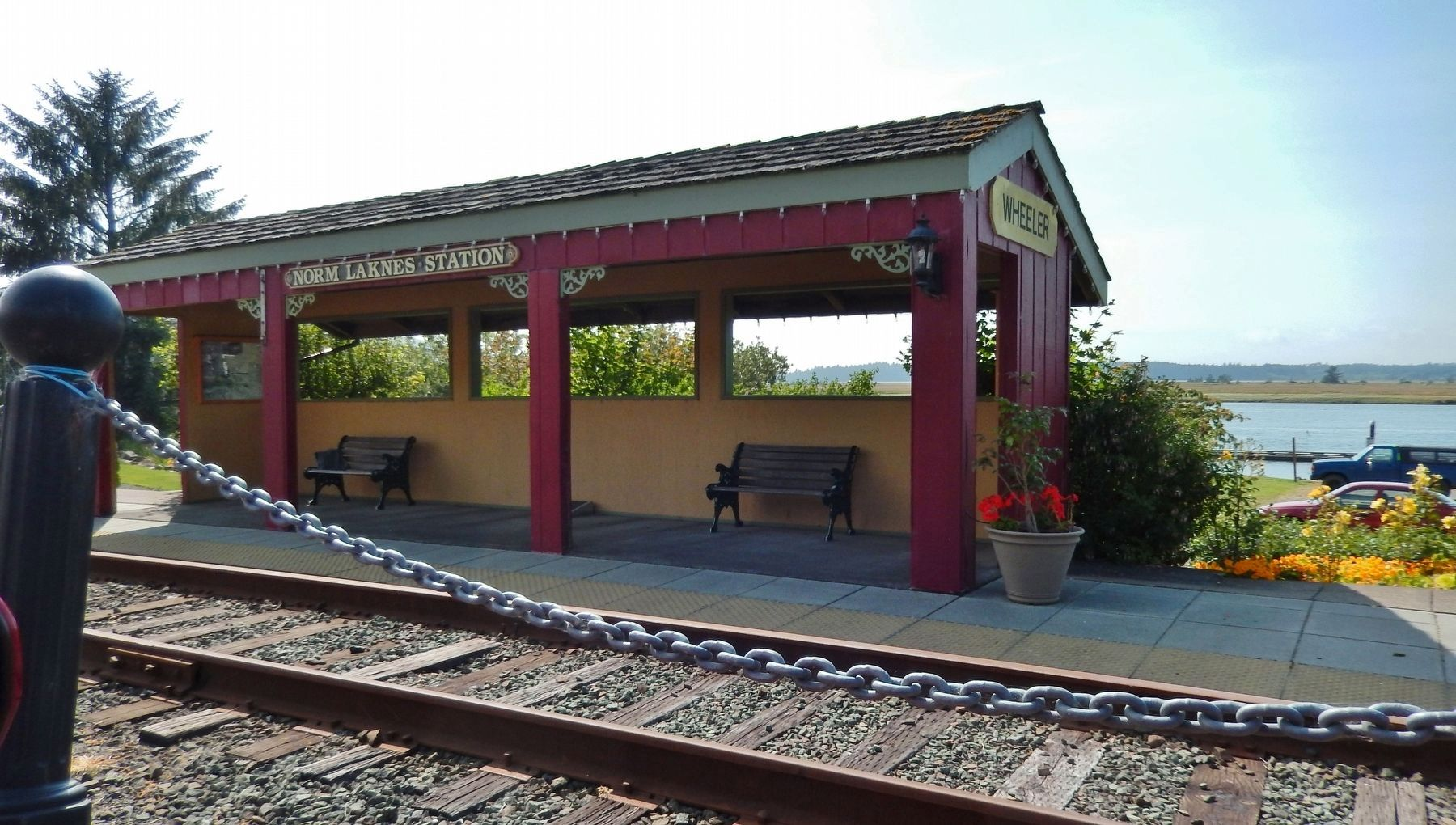 Norm Laknes Station (<i>beside marker</i>) image. Click for full size.