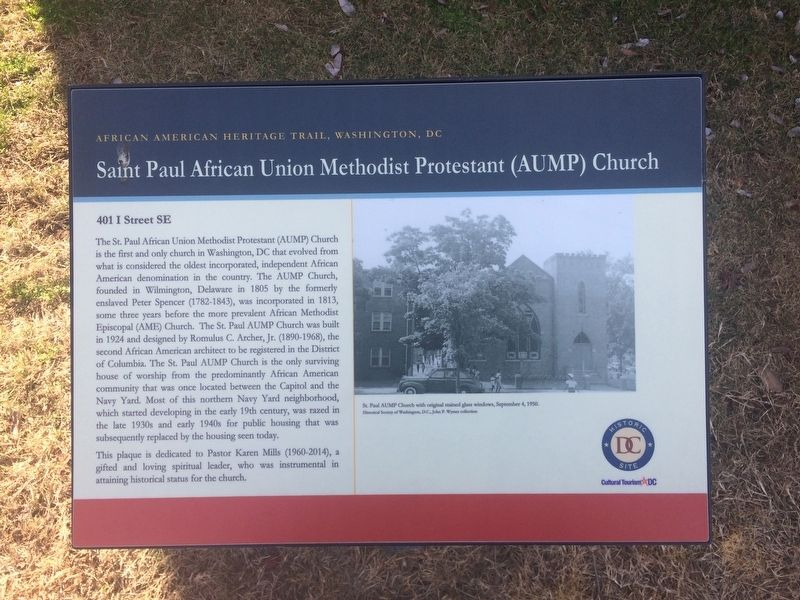 Saint Paul African Union Methodist Protestant (AUMP) Church Marker image. Click for full size.