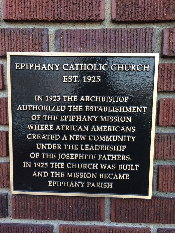 Epiphany Catholic Church Marker image. Click for full size.