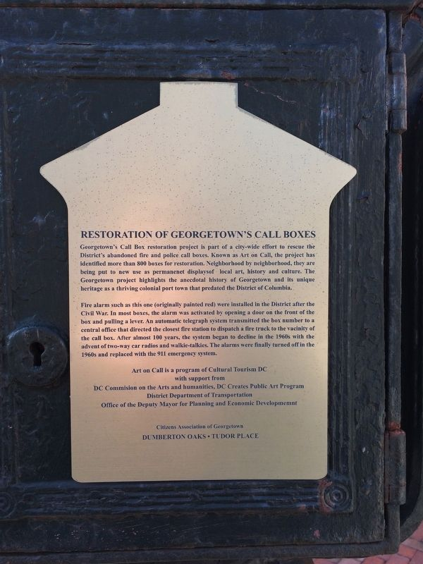 Historic Preservation in Georgetown Marker image. Click for full size.