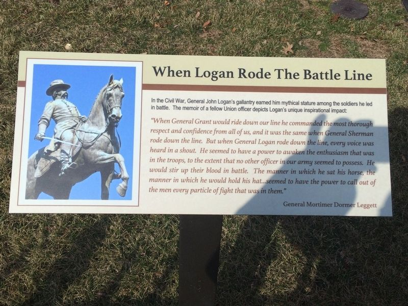When Logan Rode The Battle Line Marker image. Click for full size.
