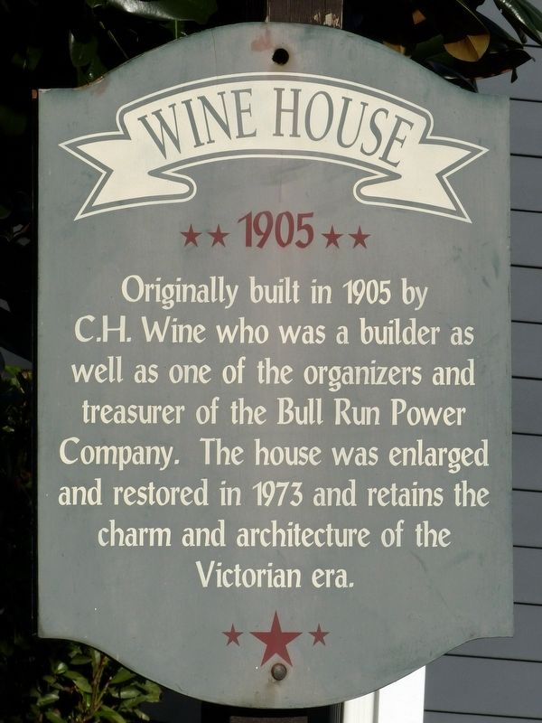 Wine House Marker image. Click for full size.