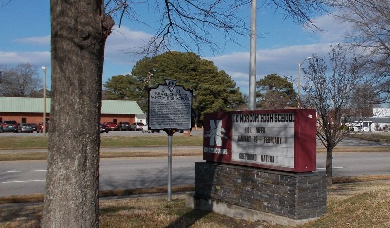Israel Charles Norcom High School Marker. image. Click for full size.
