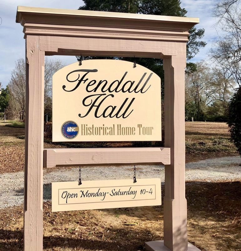 Fendall Hall entrance sign. image. Click for full size.
