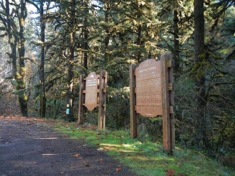 Santiam Wagon Road Marker image. Click for full size.