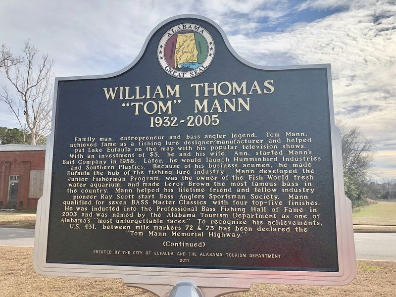 "William Thomas ""Tom"" Mann Marker image. Click for full size."