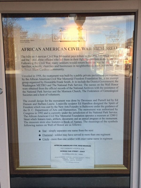 African American Civil War Memorial Marker image. Click for full size.