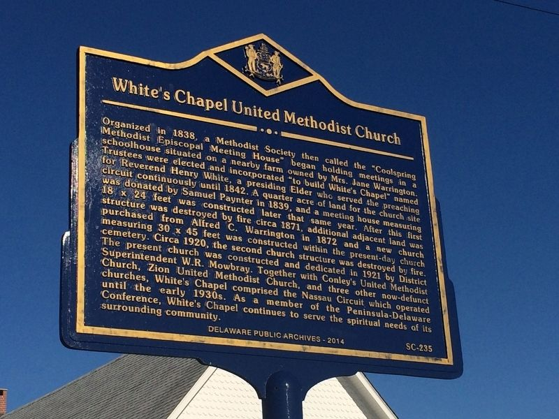 White's Chapel United Methodist Church Marker image. Click for full size.