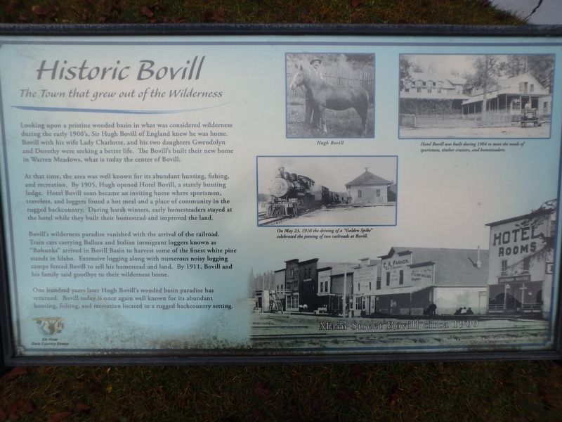 Historic Bovill Marker image. Click for full size.