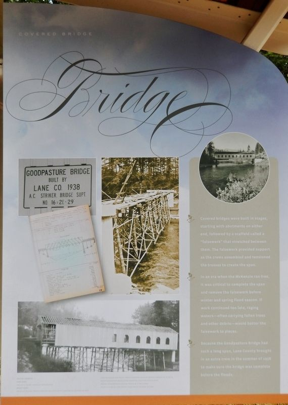 Goodpasture Bridge Marker (<i>panel 2</i>) image. Click for full size.