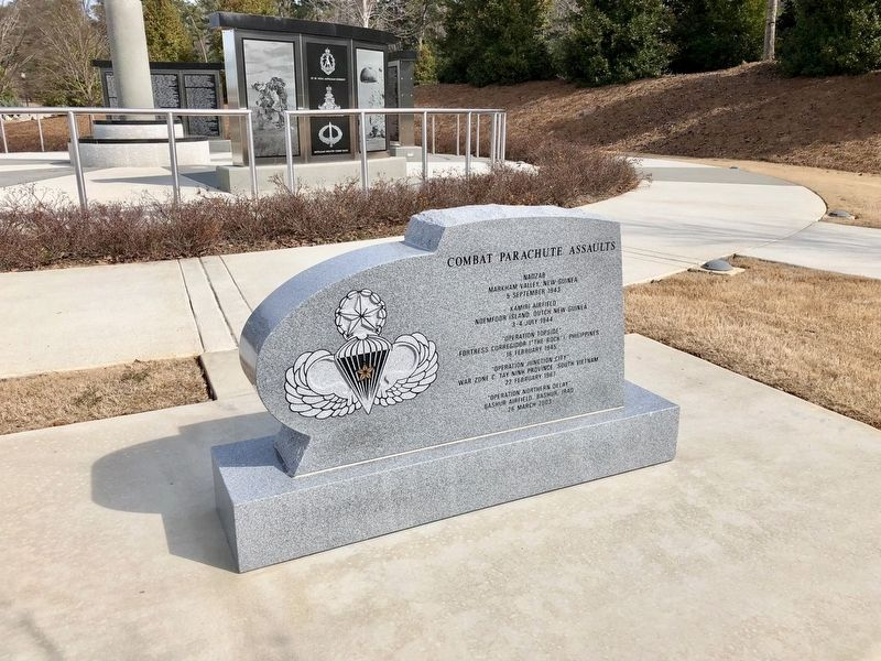 503d Infantry Regiment (Airborne) Memorial with the Sky Soldier Memorial in background. image. Click for full size.