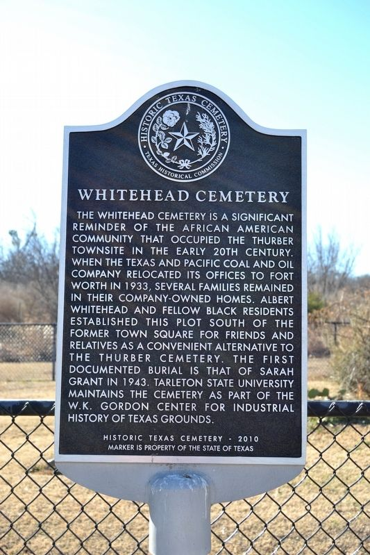 Whitehead Cemetery Marker image. Click for full size.