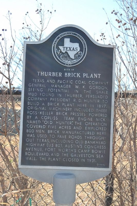 Site of Thurber Brick Plant Marker image. Click for full size.