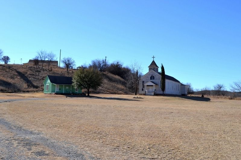 Thurber's Miner House and St. Barbara's Catholic Church image. Click for full size.