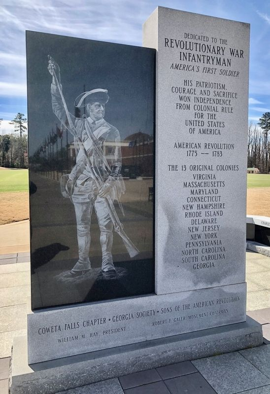 American Revolutionary War Infantryman Monument (Front) image. Click for full size.