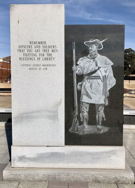 American Revolutionary War Infantryman Monument (reverse) image. Click for full size.