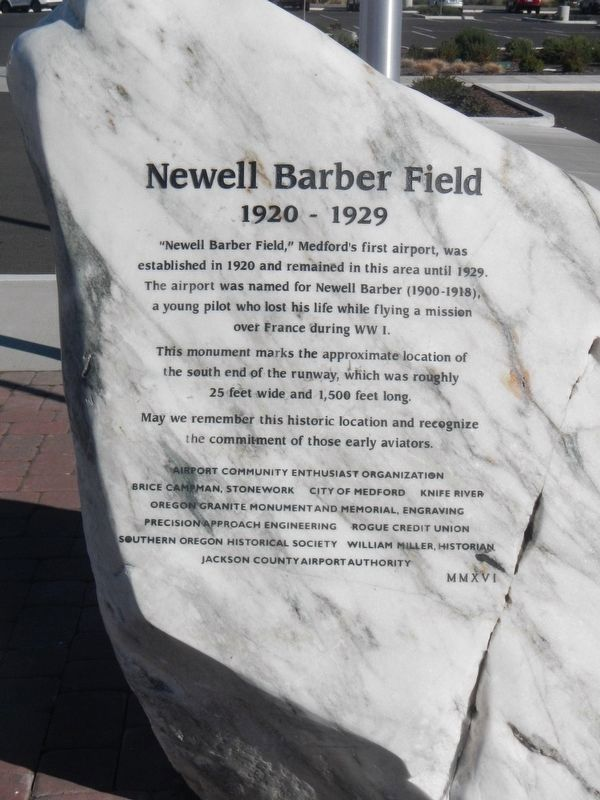 Newell Barber Field Marker image. Click for full size.
