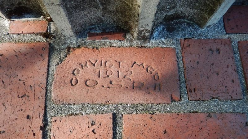 Oregon State Penetentiary, Convict Made Brick, 1912 image. Click for full size.