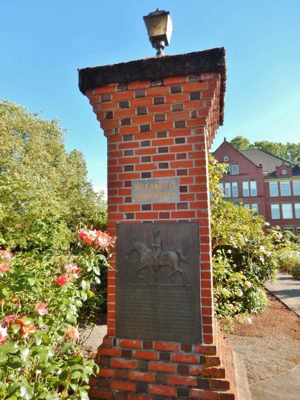 Willamette University College of Medicine Marker (<i>tall view</i>) image. Click for full size.