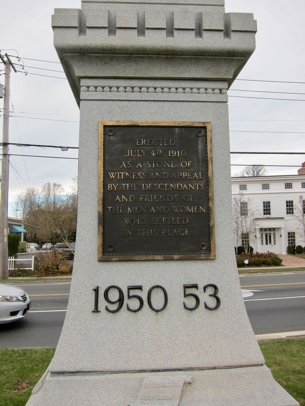 Bridgehampton Founders Monument Marker - Side 3 image. Click for full size.