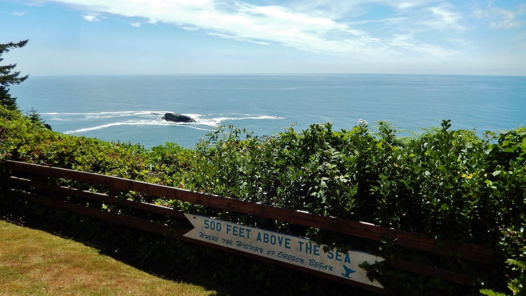 Cape Foulweather (<i>view from near marker</i>) image. Click for full size.