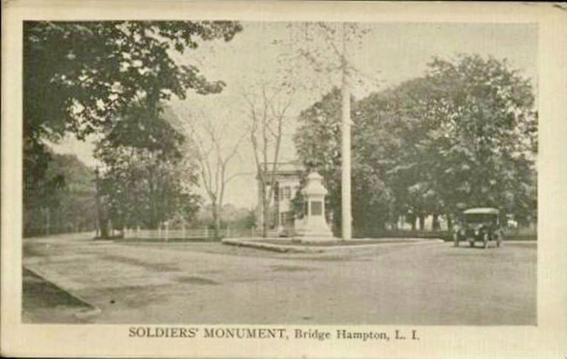<i> Soldiers&#39; Monument, Bridge Hampton, L.I.</i> image. Click for full size.
