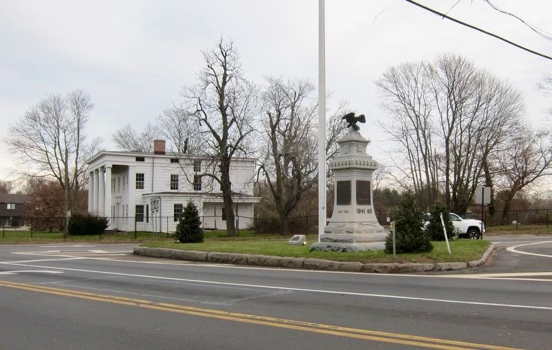 Bridgehampton Founders Monument Marker - Wide View image. Click for full size.