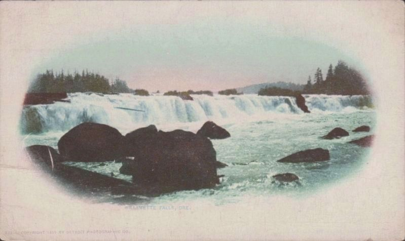 <i>Willamette Falls, Ore.</i> image. Click for full size.