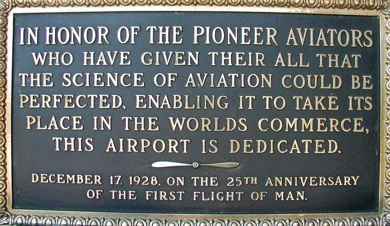 Pioneer Aviators Marker image. Click for full size.