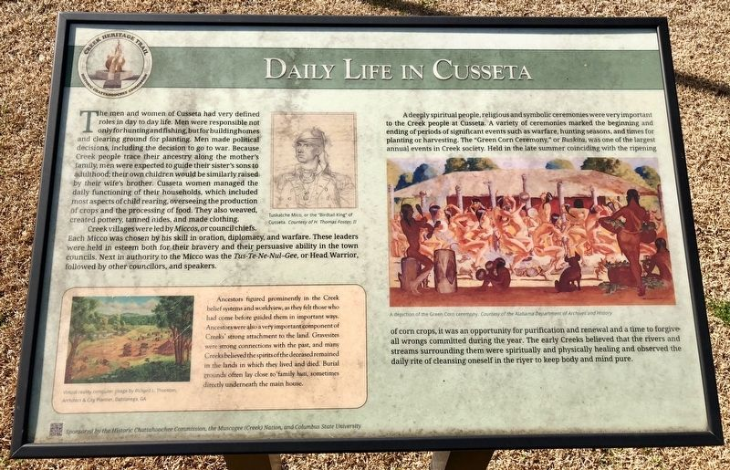 Daily Life in Cusseta Marker image. Click for full size.